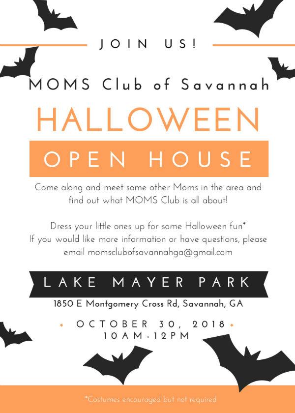 moms club savannah Halloween groups