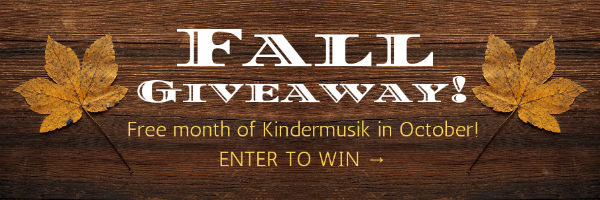 Kindermusik Savannah toddlers Fall Giveaway