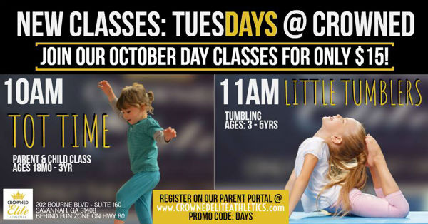 Crowned Elite Athletics Special Day Tumbling kids Classes