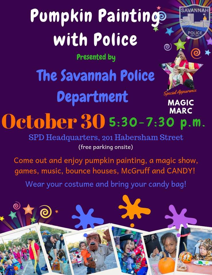 Halloween 2018 Pumpkin Painting with Savannah Police