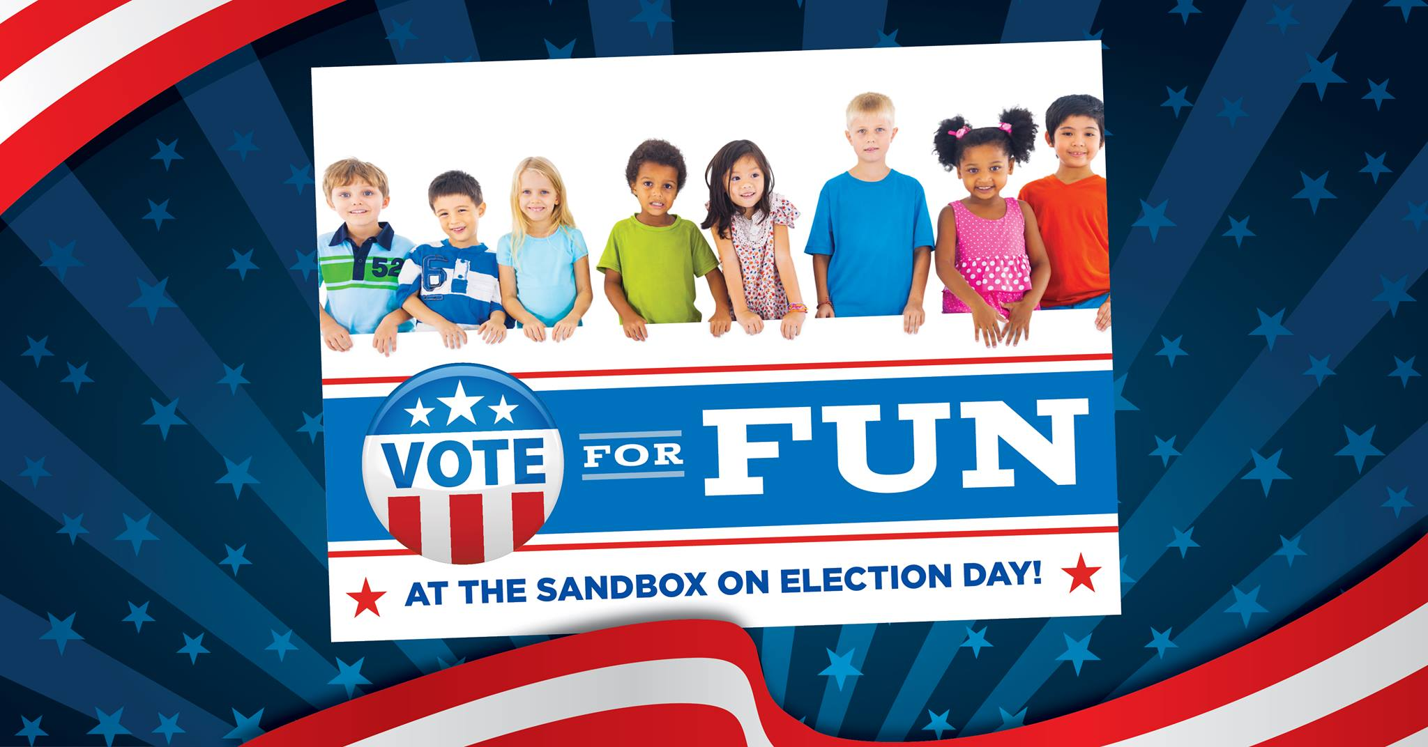 Election Day Fun for kids Sandbox Children's Museum Hilton Head 2018