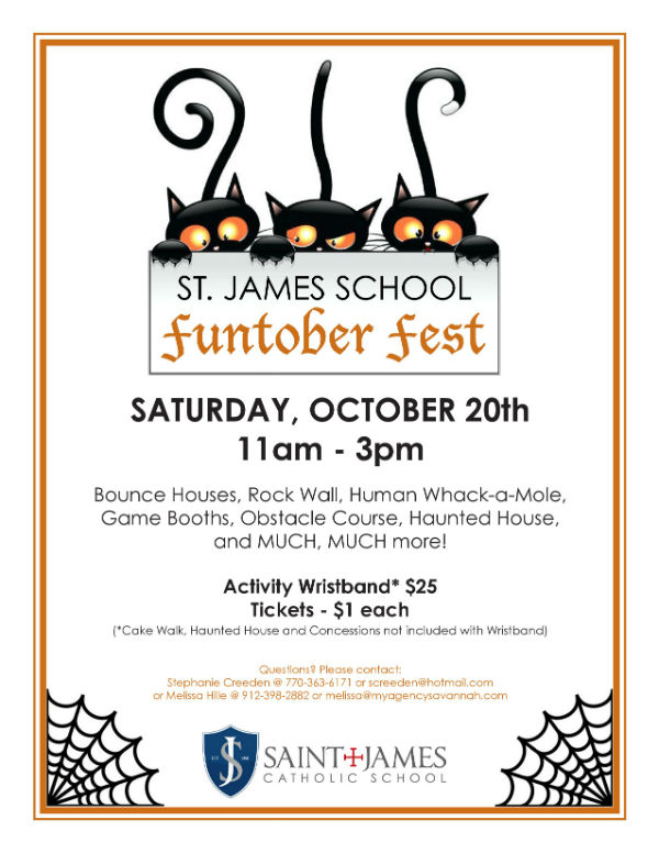 FUntober St. James Catholic School Fall Festivals Savannah