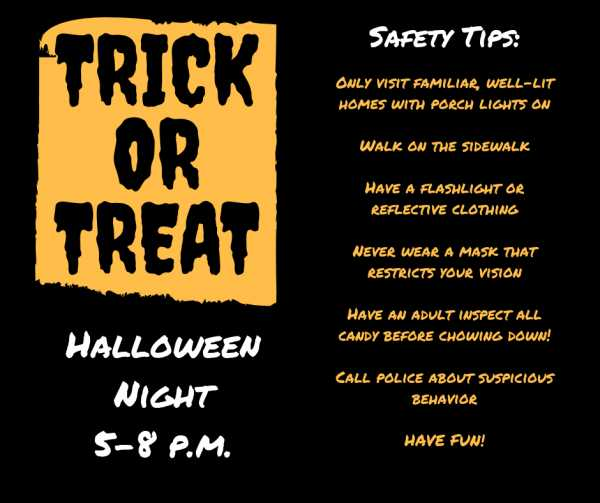 Halloween Trick or Treat Times Savannah 2018