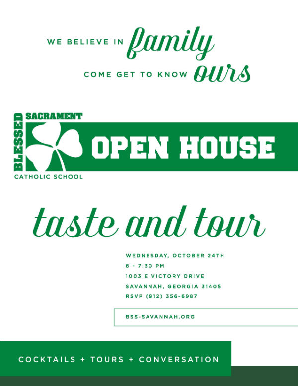 Savannah schools open house Blessed Sacrament Catholic School private