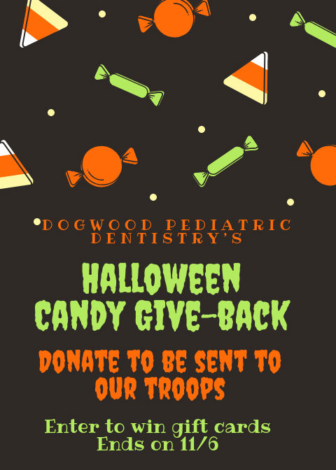 Halloween Candy Give Back Dogwood Pediatric Dentistry Savannah dentists 2018