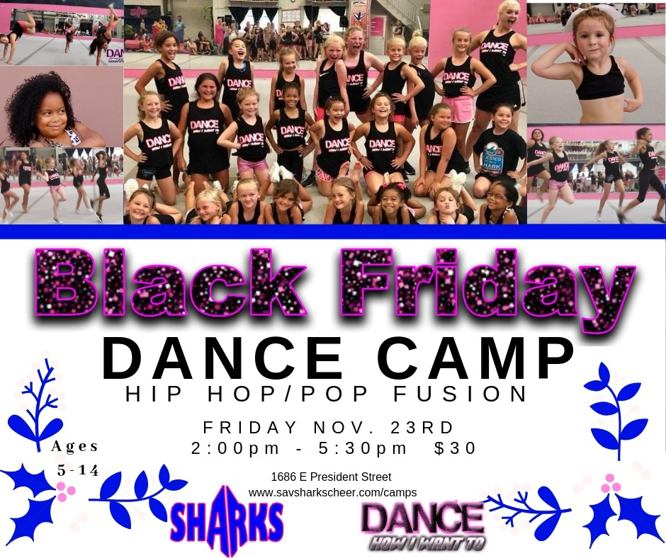 Savannah Sharks gym Black Friday camps 2018