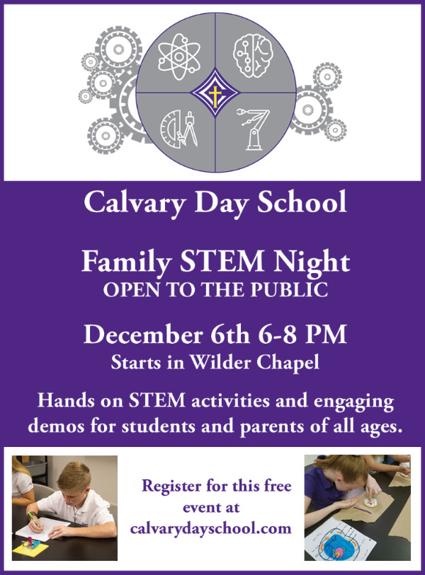 FREE STEM Night Calvary Day School Savannah