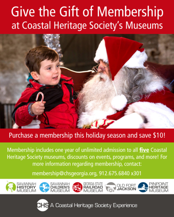 Coastal Heritage Society membership Savannah museums