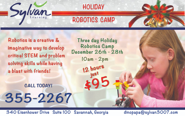Savannah Robotics Holiday camps Sylvan Learning Center tutoring