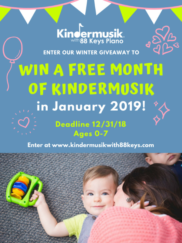 Kindermusik Savannah giveaway 2018 toddlers preschoolers