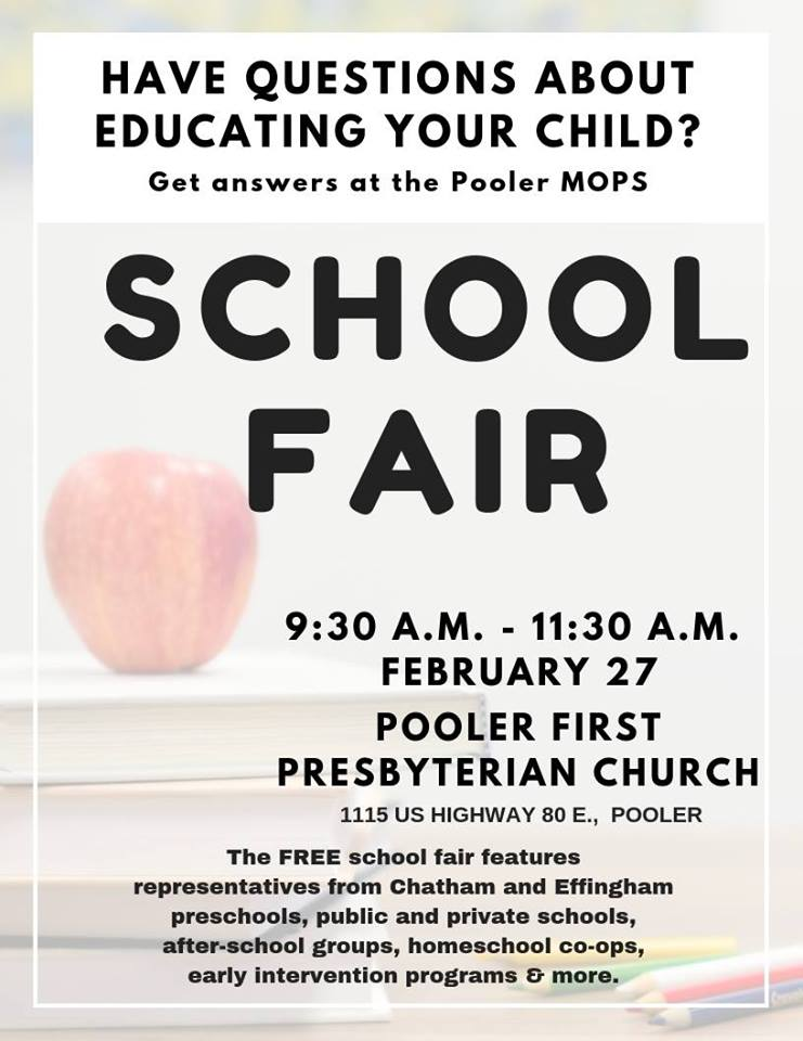Pooler MOPS School Fair 2019 homeschool private schools