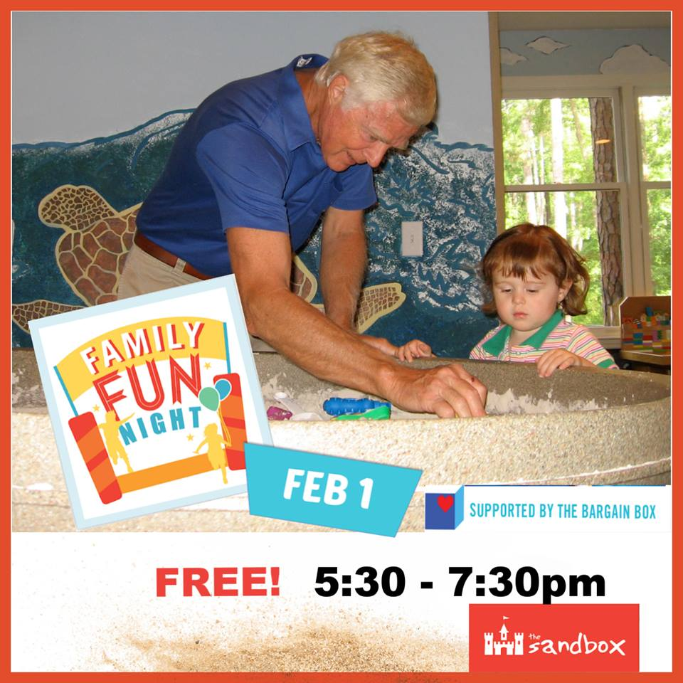 Free family fun night Sandbox Children's Museum Hilton Head Bluffton