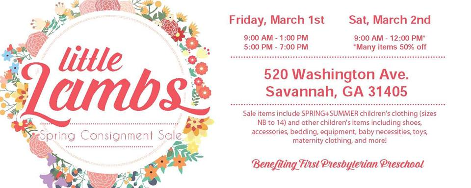 Little Lambs Consignment Sale Savannah First Presbyterian