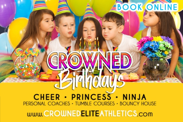 Crowned Elite Birthdays Cheer Ninja Savannah kids