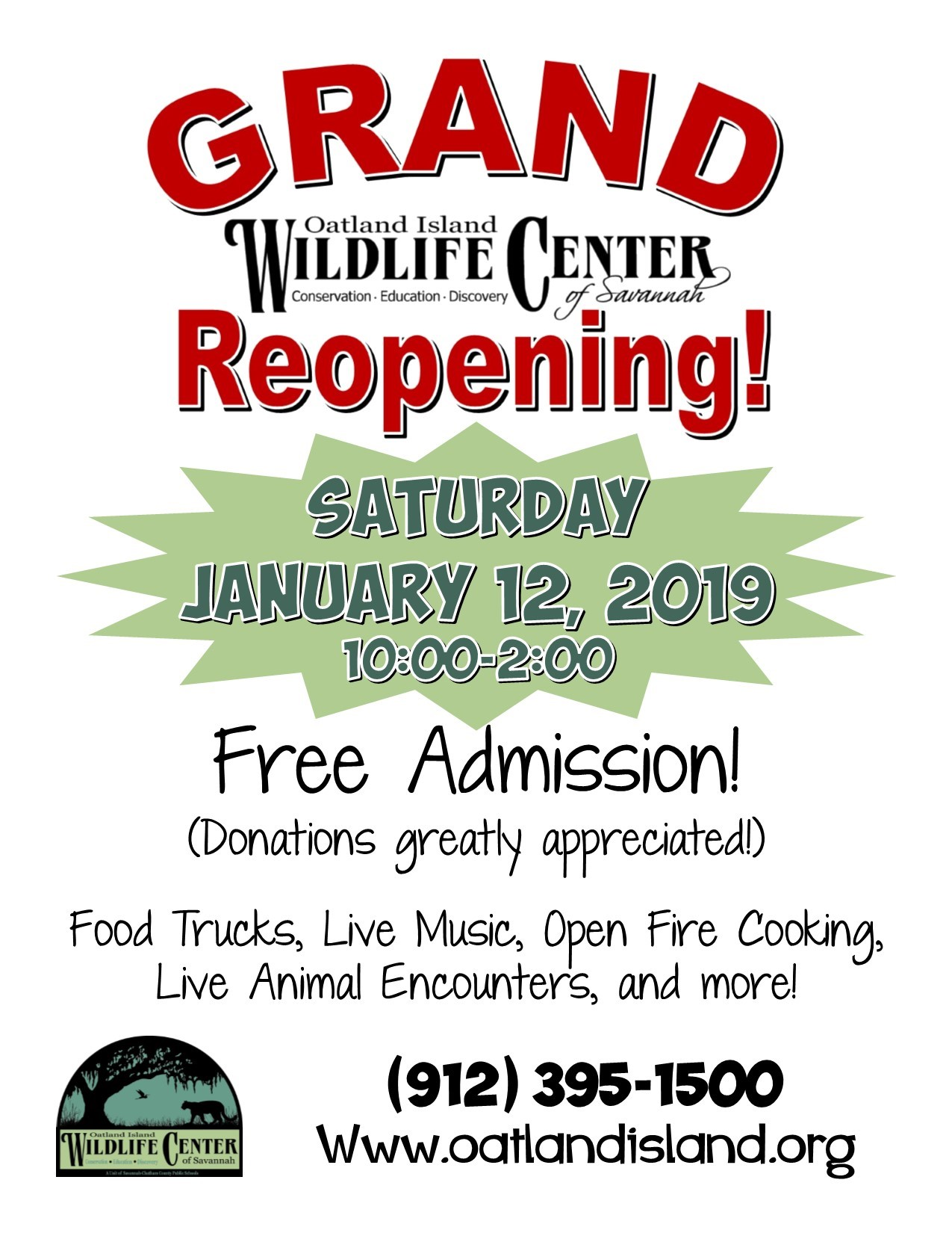 Oatland Island Wildlife Center is open 2019