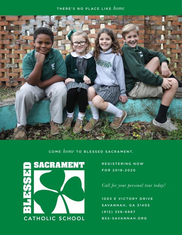 Blessed Sacrament Savannah schools preK kindergarten