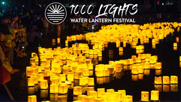 Savannah water lantern festival Lake Mayer 2019