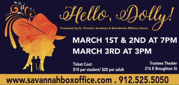 Hello Dolly musical Savannah St. Vincent's Benedictine