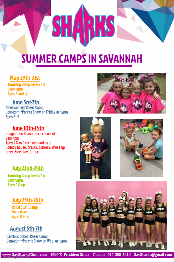 Savannah Summer Camps 2019 preschoolers toddlers cheer princess
