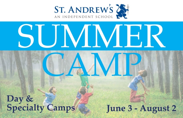 St. Andrew's Summer Camp specialty camps 2019