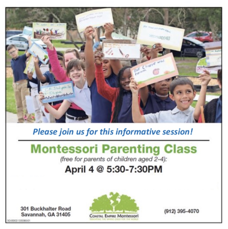Montessori Parenting Class Savannah Coastal Empire