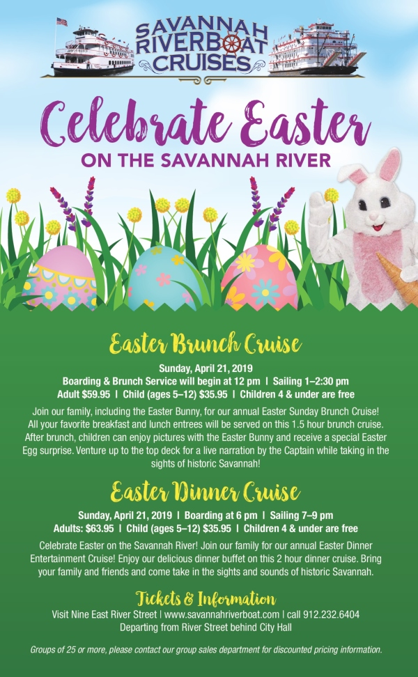 Easter Cruise Savannah Riverboat Spring Kids Events CHatham COunty