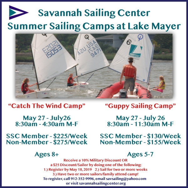 Savannah Sailing Center Summer Camp Lake Mayer kids Chatham County guppy