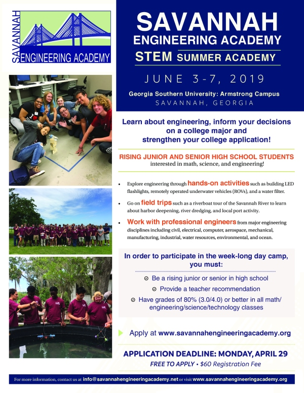 Savannah Engineering Academy Summer Camp high school