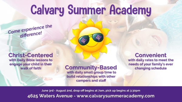 Calvary Summer Academy Savannah summer camps faith based