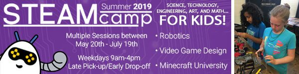 STEAM STEM Savannah Summer Camps Robotics Video Game Development Minecraft