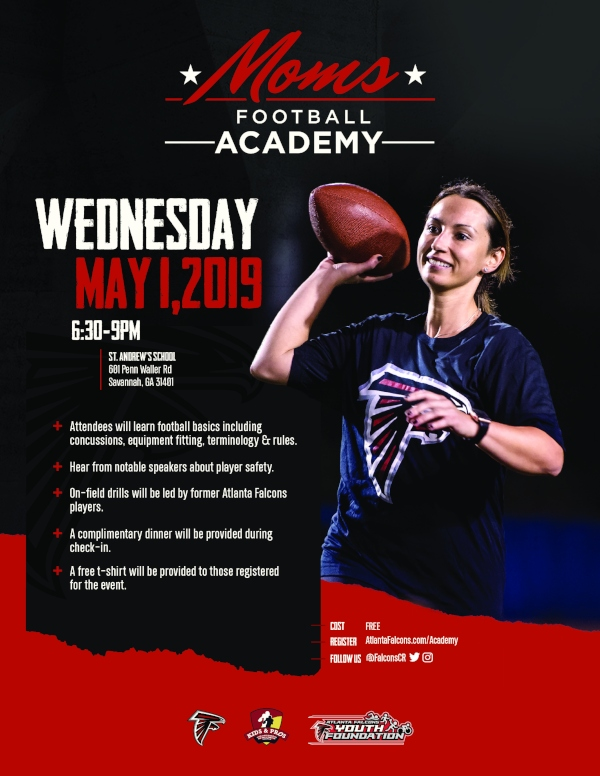 FREE Atlanta Falcons Moms Football Academy Savannah 2019