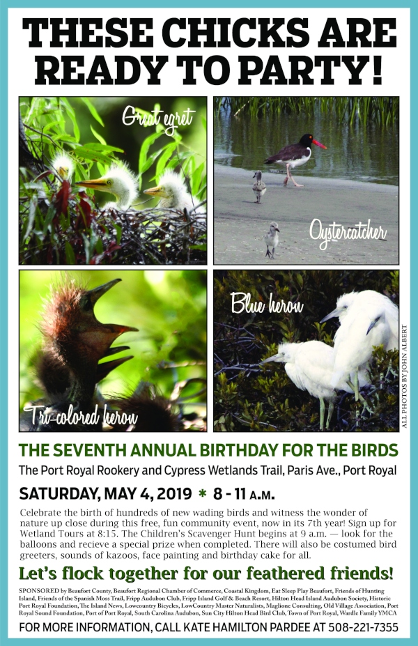 Birthday for Birds 2019 festival Port Royal SC