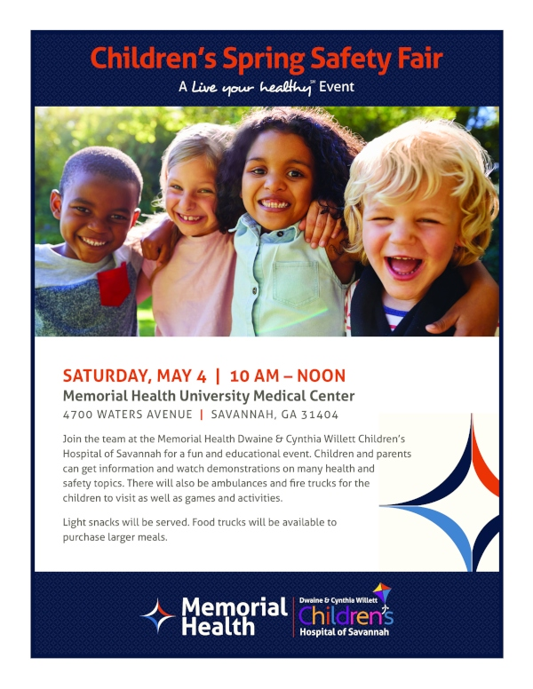Free kids safety fair Memorial Health 2019 Savannah