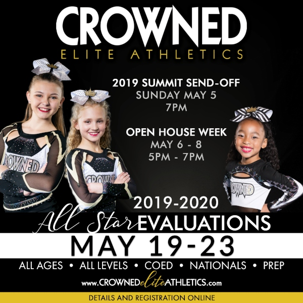 Crowned Elite Athletics Savannah All-Star Cheer Tryouts 2019 Chatham County