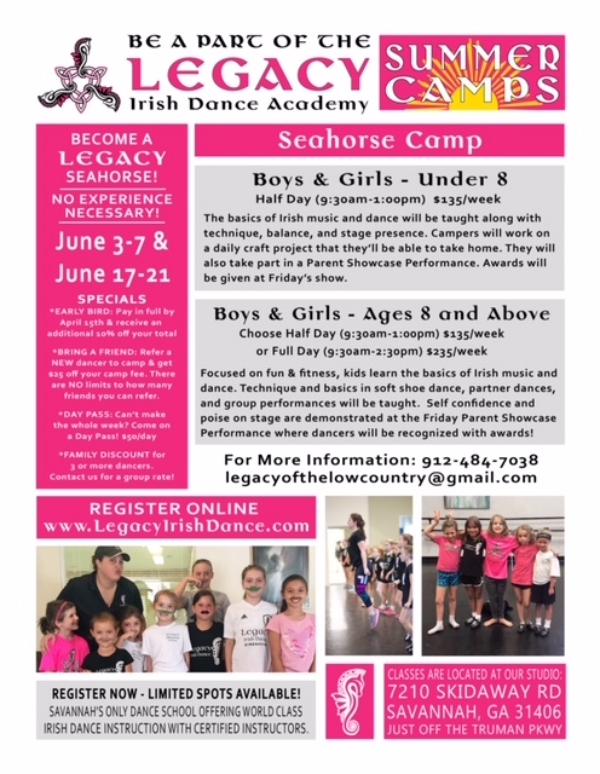 Irish Dance Savannah Summer Camps 2019 Chatham County Legacy