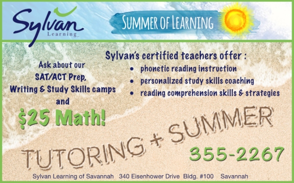 Sylvan tutoring summer 2019 Savannah Chatham County