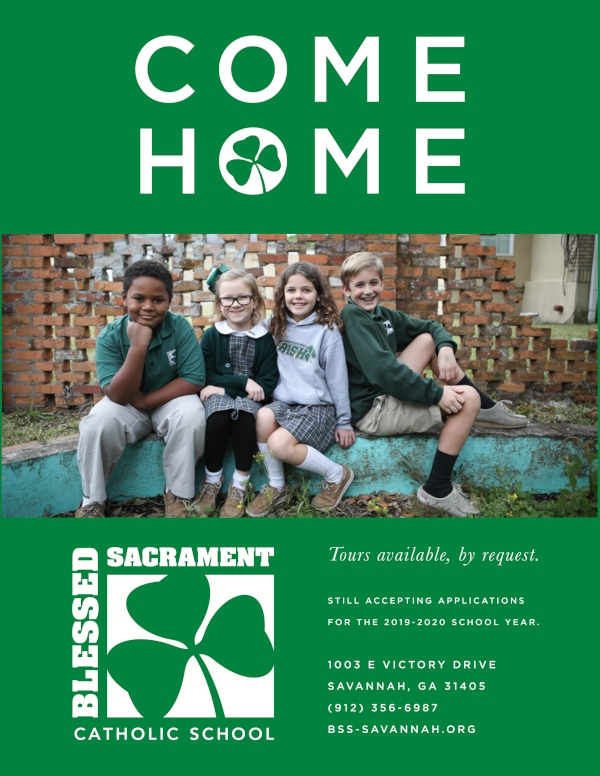 Savannah schools Blessed Sacrament tours open houses private Catholic