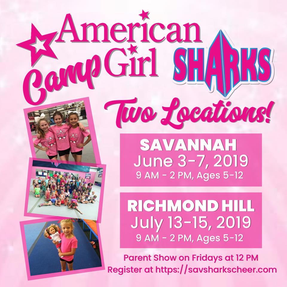 American Girl Camp Savannah Sharks Richmond Hill