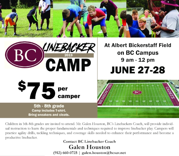 linebacker summer camps benedictine military