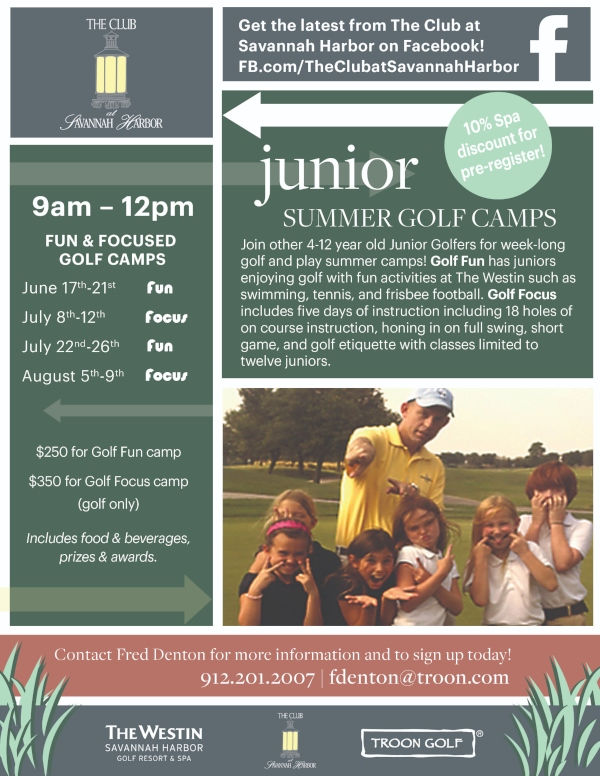 Savannah Summer Golf Camps 2019 Westin