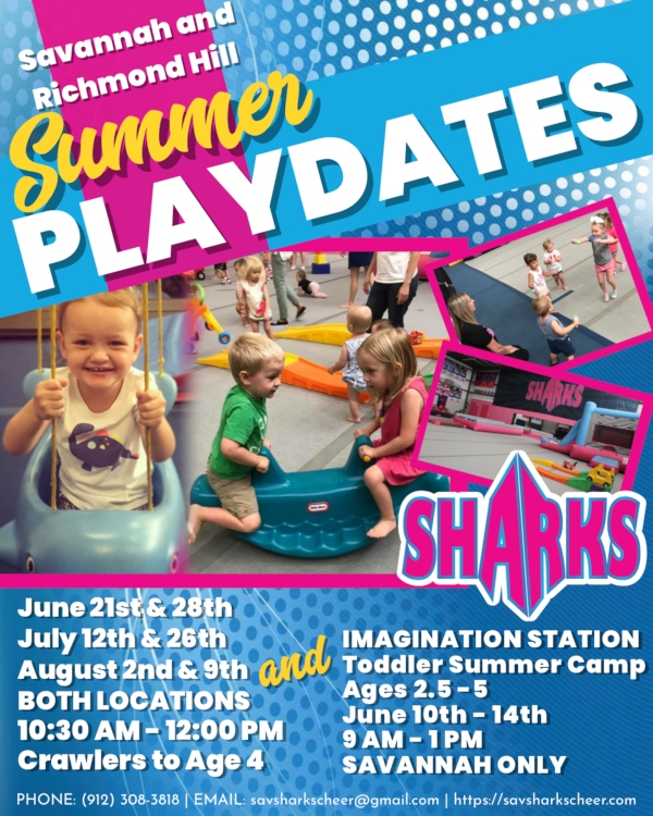 Summer Playdates Imagination Station Savannah Sharks 2019