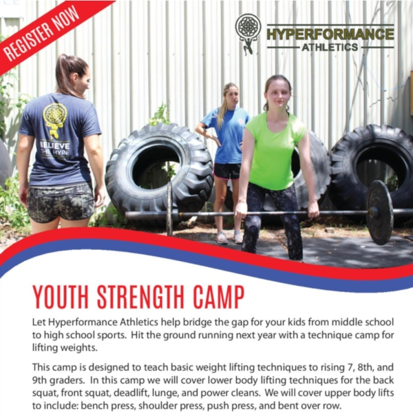 Youth Strength Camp Savannah Summer Camps 2019 fitness weights