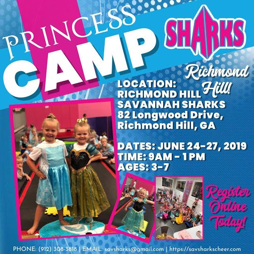 Princess Camp Richmond Hill Summer Savannah SHarks
