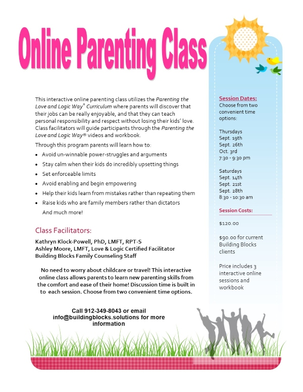 Parenting Class Online Savannah Chatham County Effingham County