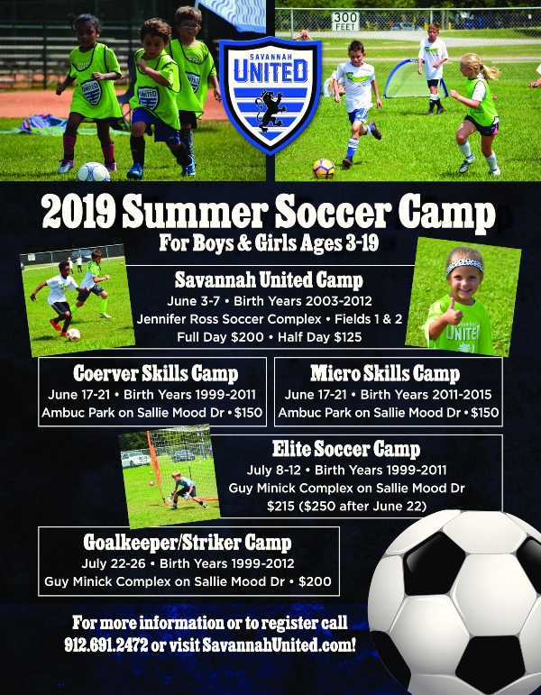 Soccer Summer Camps Savannah United 2019 Summer