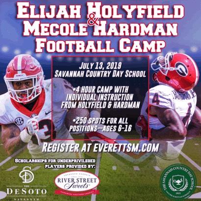 Elijay Holyfield Football Camp Savannah 2019