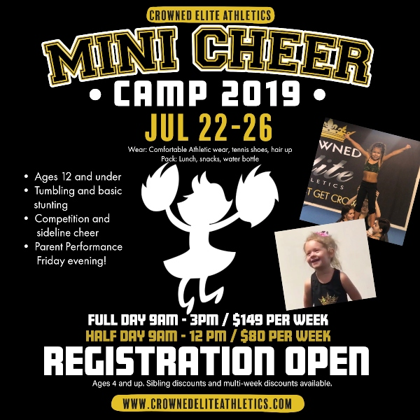 Mini Cheer Camp 2019 Crowned Elite Athletics Savannah