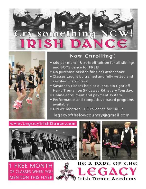 Irish Dance Lessons Classes Savannah Chatham County Legacy