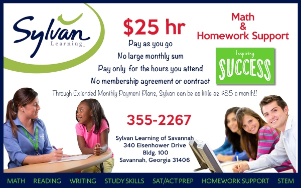 Sylvan Learning tutoring Savannah homework help