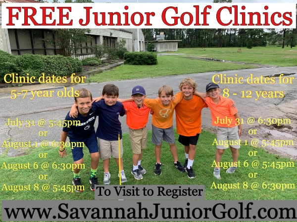 Junior Golf Clinic Savannah 2019